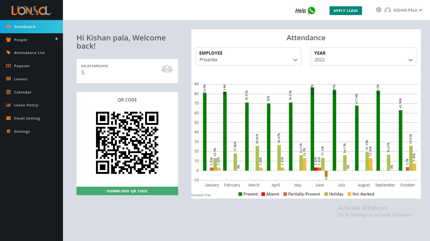 Attendance & Payroll | HR Admin Dashboard